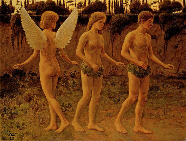 Gabriel Painting - Outside Paradise Time by Wilhelm Wetlesen