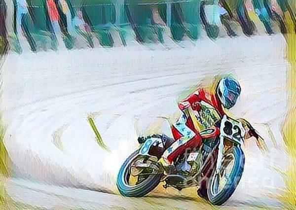 Osu Digital Art - Oval Bike Race by Douglas Sacha
