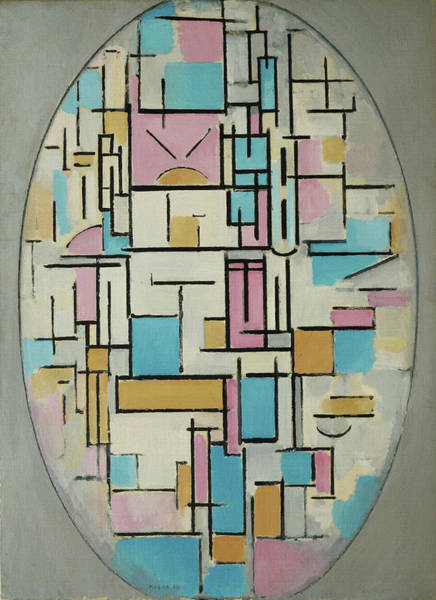 Painting - Oval Composition by Piet Mondrian