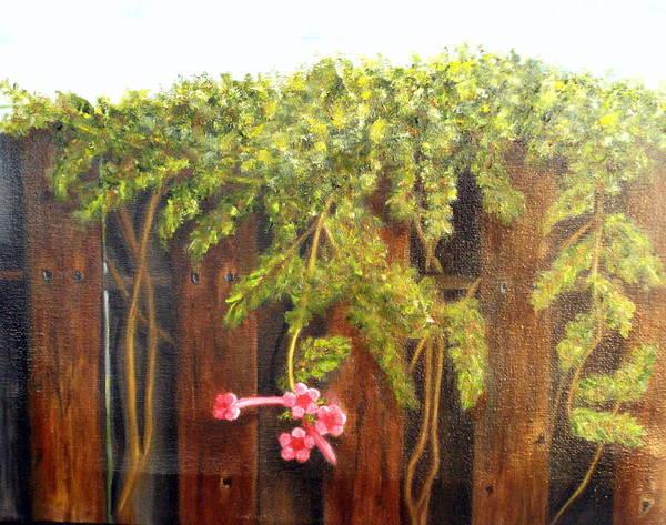 Painting - Over Francine's Fence.......sold by Susan Dehlinger