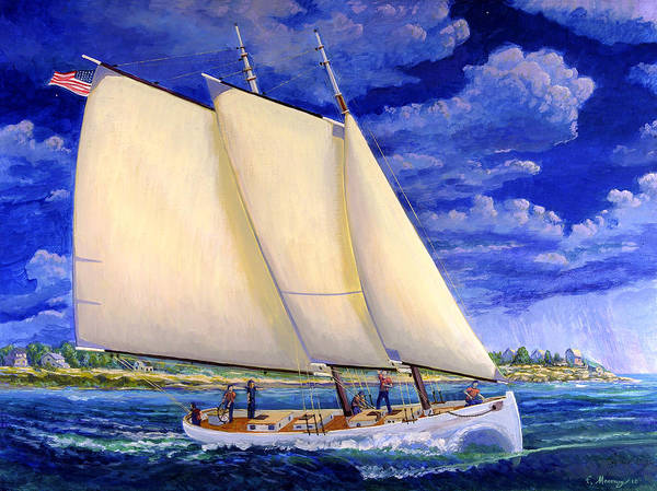Cape May Painting - Over The Breakwaters by Frank Maroney