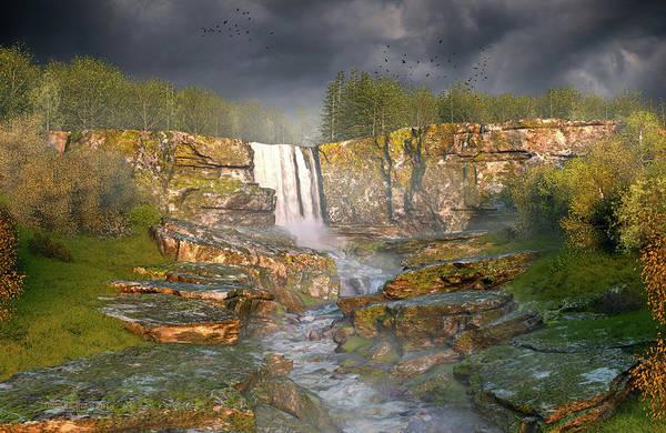 Digital Art - Over The Edge by Dieter Carlton