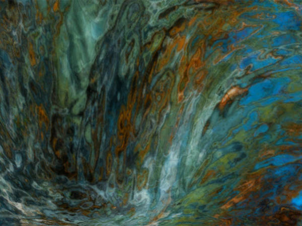 Rock Texture Painting - Over The Edge by Jack Zulli