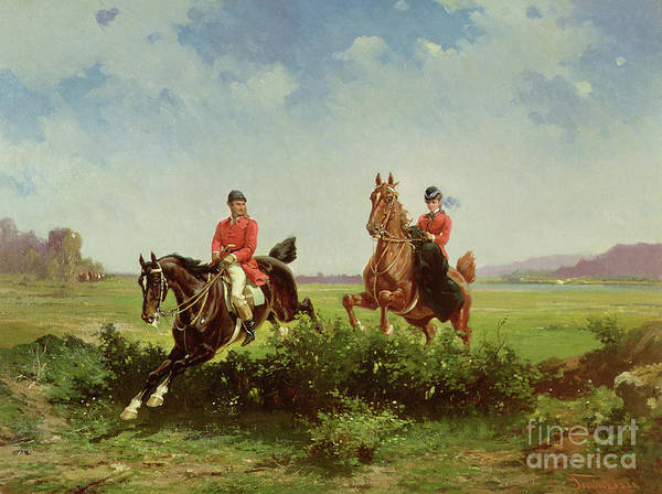 Reins Painting - Over The Fence by Alfredo Tominz