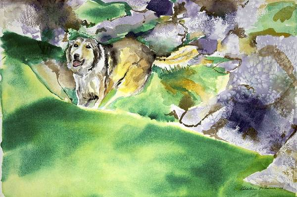 Over The Hill With Shep Art Print