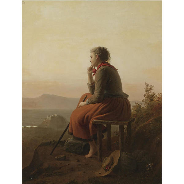 Meyer Painting - Over The Hills And Far Away by Johann Georg