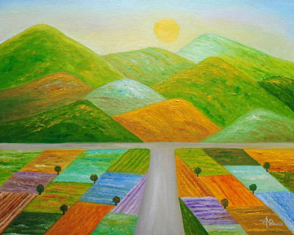 Painting - Over The Next Hill by Angeles M Pomata