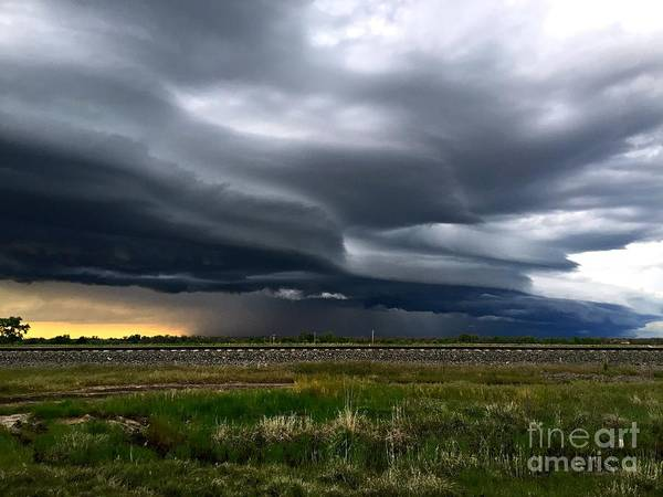 Shelf Cloud Photograph - Over The Rail by Josh Alecci