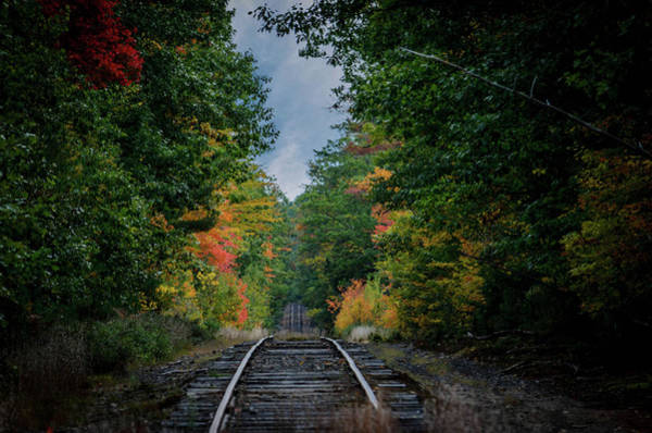Railroad Tie Wall Art - Photograph - Over The Rise by Dan Jordan