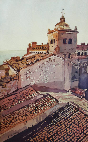 Painting - Over The Rooftops, Caceres by Jenny Armitage