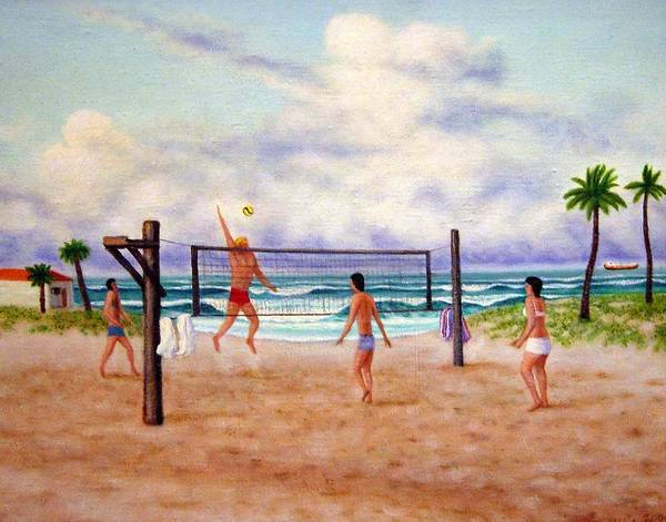 Volley Painting - Over The Top by Charles Hill