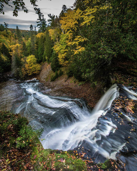 Photograph - Over The Top - Laughing Whitefish Falls by William Christiansen