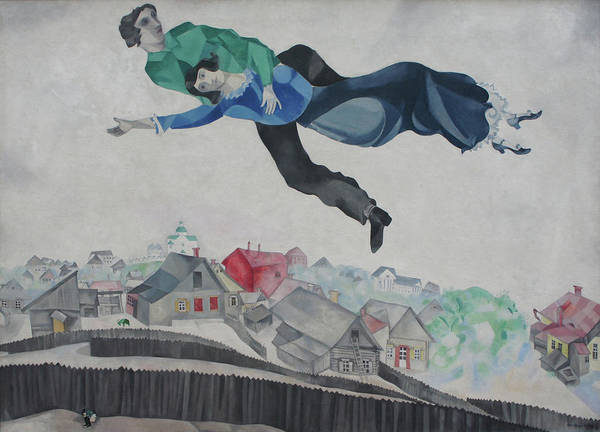 Over The Town Art Print by Marc Chagall