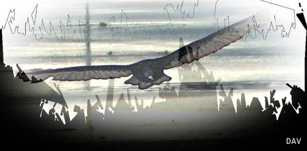 Wall Art - Mixed Media - Over The Water by Debra     Vatalaro