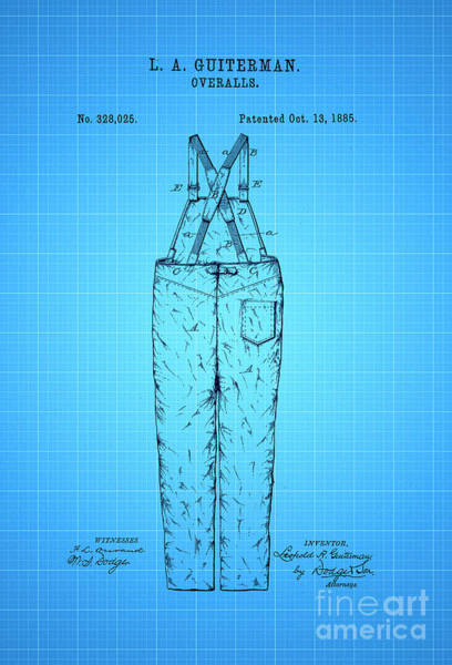 Wall Art - Digital Art - Overalls Patent 1885 2 by Nishanth Gopinathan