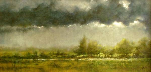 Wall Art - Painting - Overcast Day At The Refuge by Jim Gola