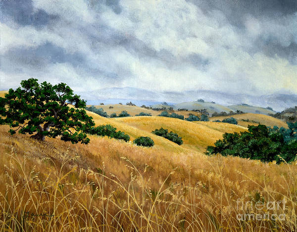 California Hills Painting - Overcast June Morning by Laura Iverson