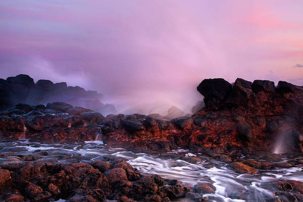 Blowhole Photograph - Overcome By The Tides by Mike  Dawson