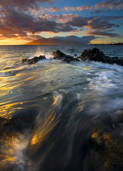 Maui Sunset Wall Art - Photograph - Overflow by Mike  Dawson