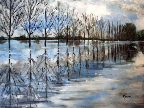 Overflow Painting - Overflowing Charente by Cathy MONNIER