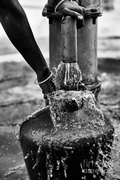 Hand Pump Photograph - Overflowing by Tim Gainey