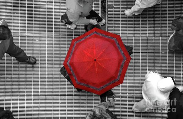 Pedestrian Wall Art - Photograph - Overhead Red by Dan Holm