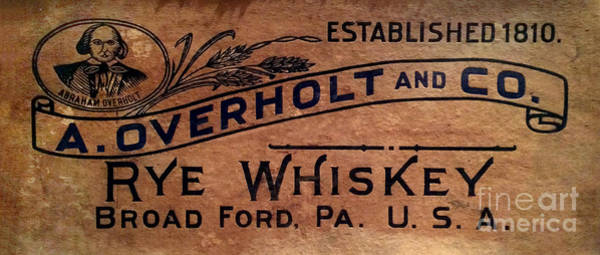 Wall Art - Photograph - Overholt Rye Whiskey Sign by Jon Neidert