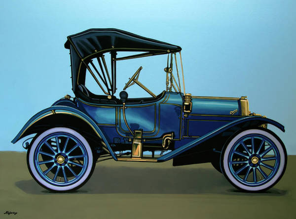 Car Show Painting - Overland 1911 Painting by Paul Meijering