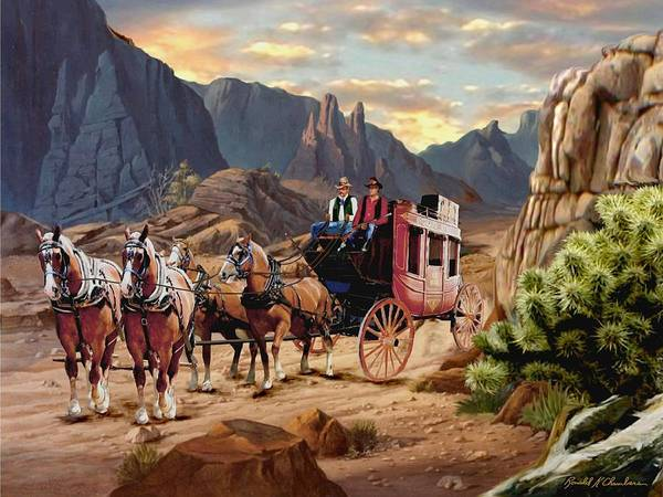 Wall Art - Painting - Overland Trail V2 by Ron Chambers