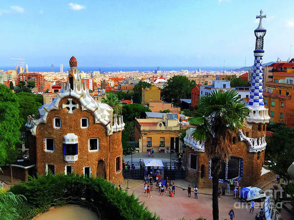 Wall Art - Photograph - Overlooking Barcelona From Park Guell by Mona Edulesco