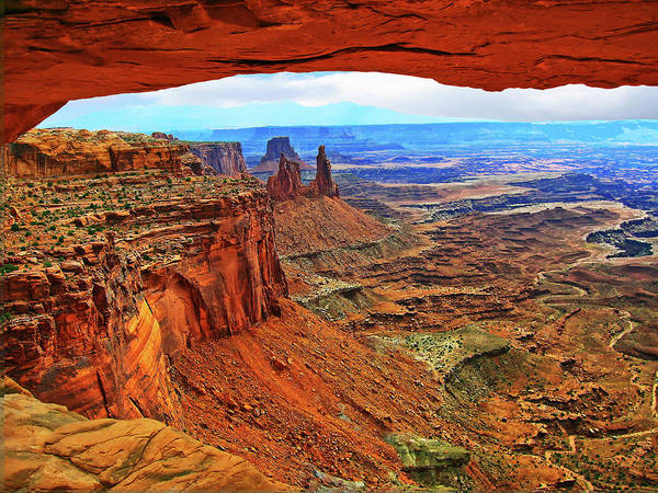 Overlooking Canyonlands National Park    Moab Utah Art Print