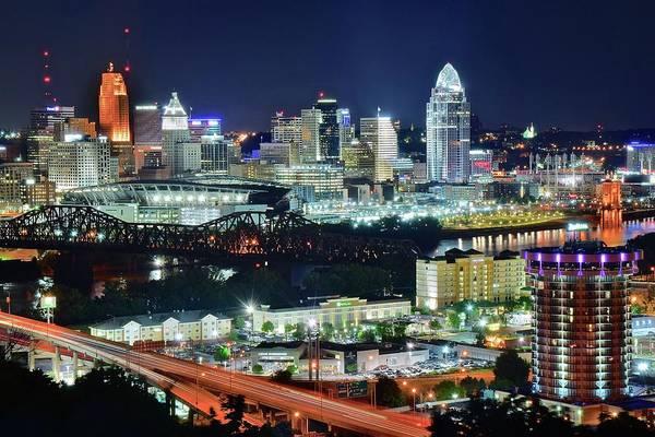 Wall Art - Photograph - Overlooking Cincinnati by Frozen in Time Fine Art Photography