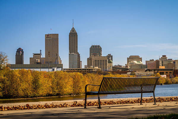 Photograph - Overlooking Downtown Indianapolis by Ron Pate