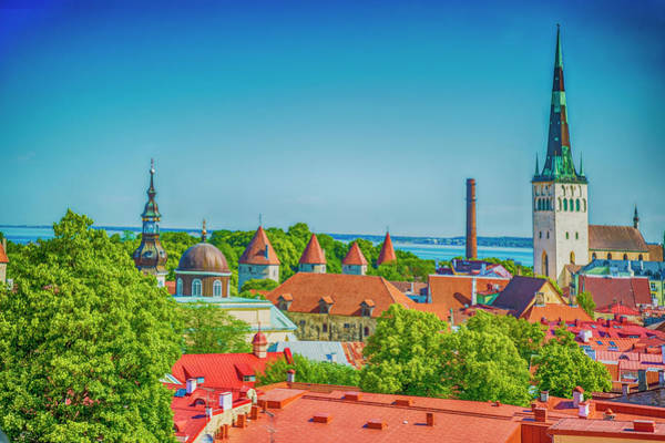 Digital Art - Overlooking Tallinn by Mick Burkey