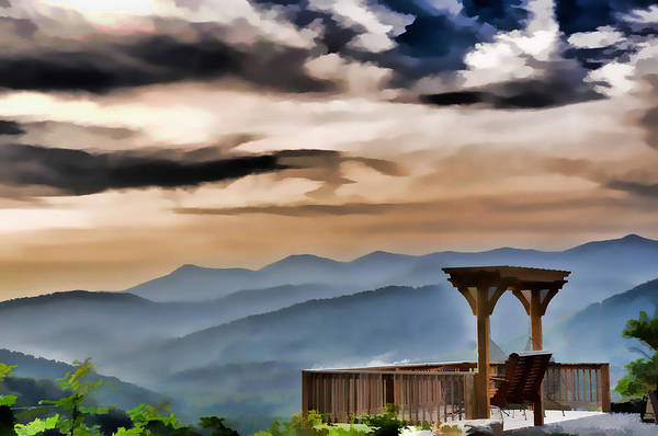 Photograph - Overlooking The Blue Ridge Mountains by Ginger Wakem