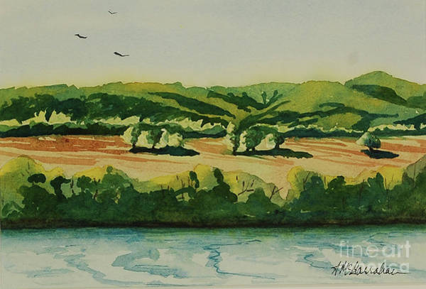 Wall Art - Painting - Overlooking The Bottoms by Annette McGarrahan