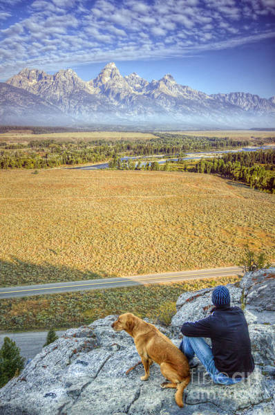 Jackson Hole Wall Art - Photograph - Overlooking The Grand Tetons Jackson Hole by Dustin K Ryan