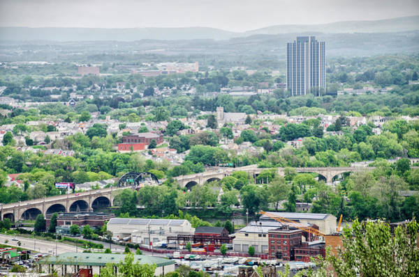 Photograph - Overlooking The Hill To Hill Bridge In Bethlehem Pa by Bill Cannon