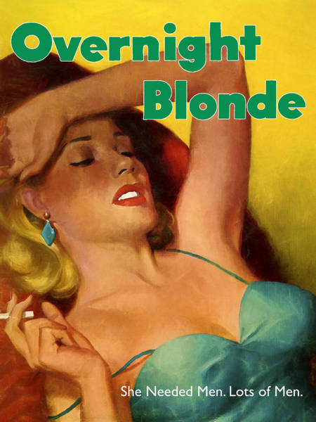 Dope Painting - Overnight Blonde by Dominic Piperata