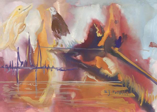 Painting - Overseeing Eagle Eye by Sheri Jo Posselt