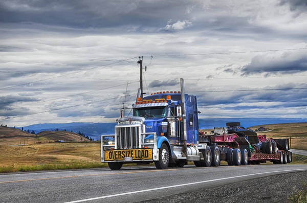 Semi Truck Photograph - Oversize Load by Theresa Tahara