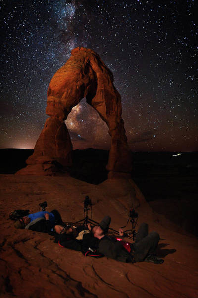 Delicate Arch Wall Art - Photograph - Overwhelmed By Beauty by Mike Berenson