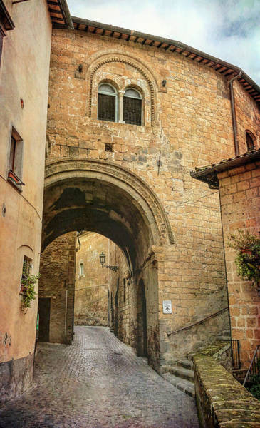 Wall Art - Photograph - Orvieto Italy Arch And Street by Joan Carroll
