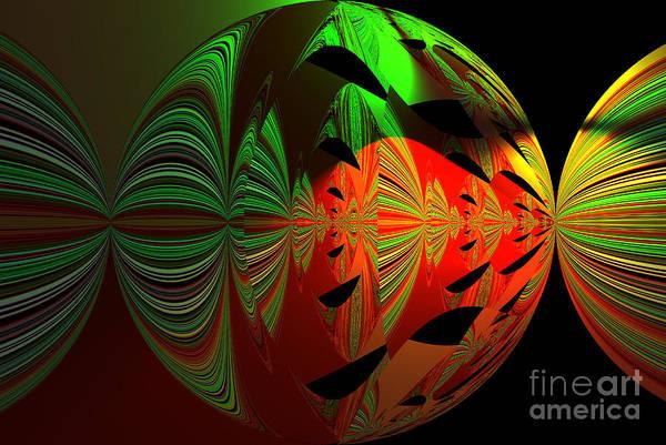 Art Green, Red, Black Art Print