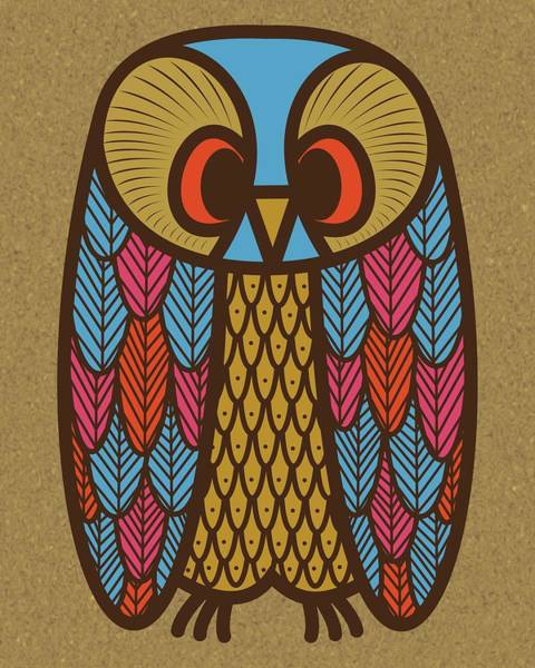 Digital Art - Owl 1 by Donna Mibus