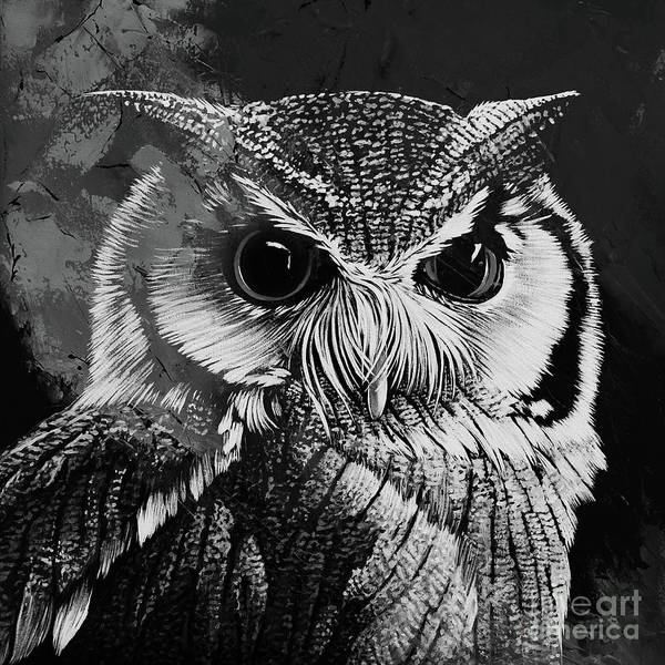 Wall Art - Painting - Owl 546 by Gull G