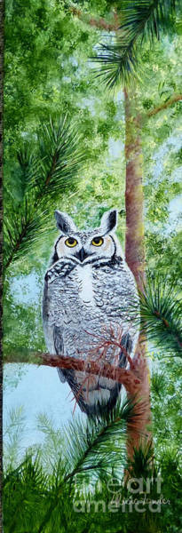 Painting - Owl by Alicia Fowler