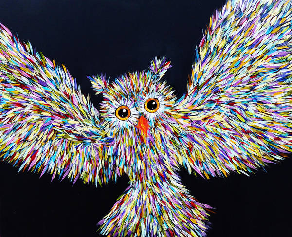 Owl Painting - Owl Bright by Lynn Colwell