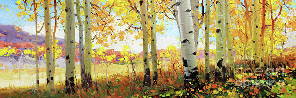 Wall Art - Painting - Owl Creek Fall Aspen by Gary Kim