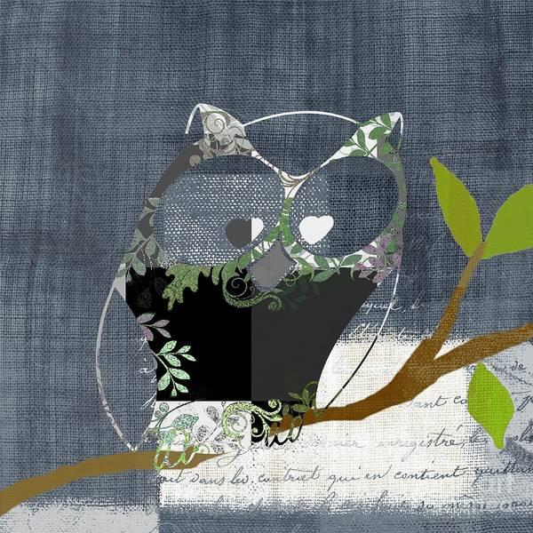 Wall Art - Digital Art - Owl Design - J140149146-v131b  by Variance Collections